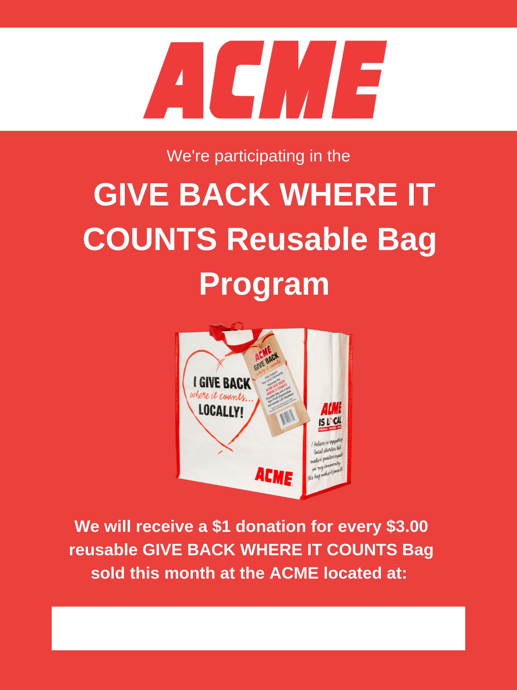 ACME Bag Flyer